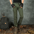 Fashion Cotton Pantalon Homme Multi Pockets Black Army Green Color Cargo Pants Military Style