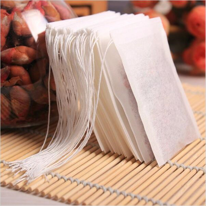 Image 5 - 100Pcs/Lot Teabags 5.5 x 7CM Empty Scented Tea Bags With String Heal Seal Filter Paper for Herb Loose Tea Bolsas de te-in Tea Strainers from Home & Garden