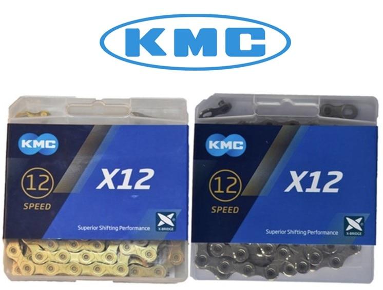 KMC X12 12 prędkości 126L MTB Mountain Bcycle łańcuch 12 s złoty łańcuch łańcuchy rowerowe w Łańcuchy rowerowe od Sport i rozrywka na AliExpress - 11.11_Double 11Singles' Day 1