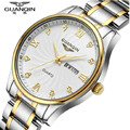 Men Watches Luxury GUANQIN Brand Quartz-Watch Ultra Thin Business Waterproof Stainless Steel Watchbands Relogio Masculino Clock
