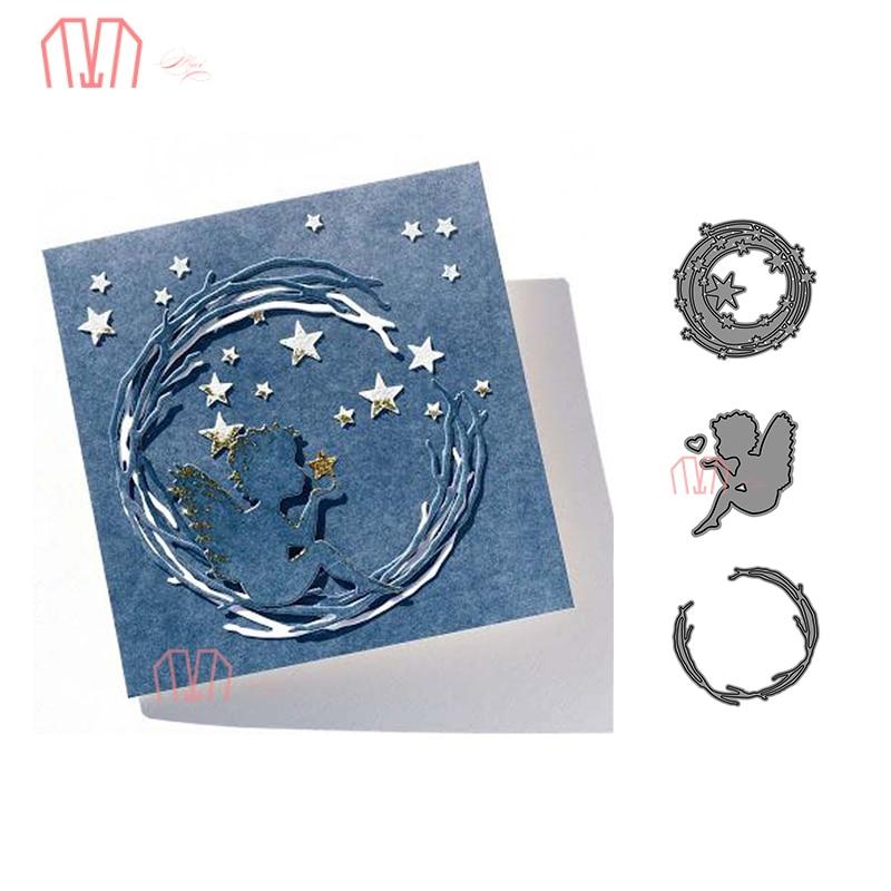Crackle Metal Cutting Dies Stencil for DIY Scrapbook Album Paper Cards  R