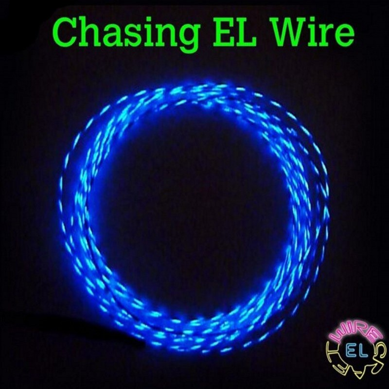 1m/3m/5m CHASING EL Wire 3V Battery case inverter Powered Flexible led Neon Light strip Tube Rope Car Party Clothing Wedding image