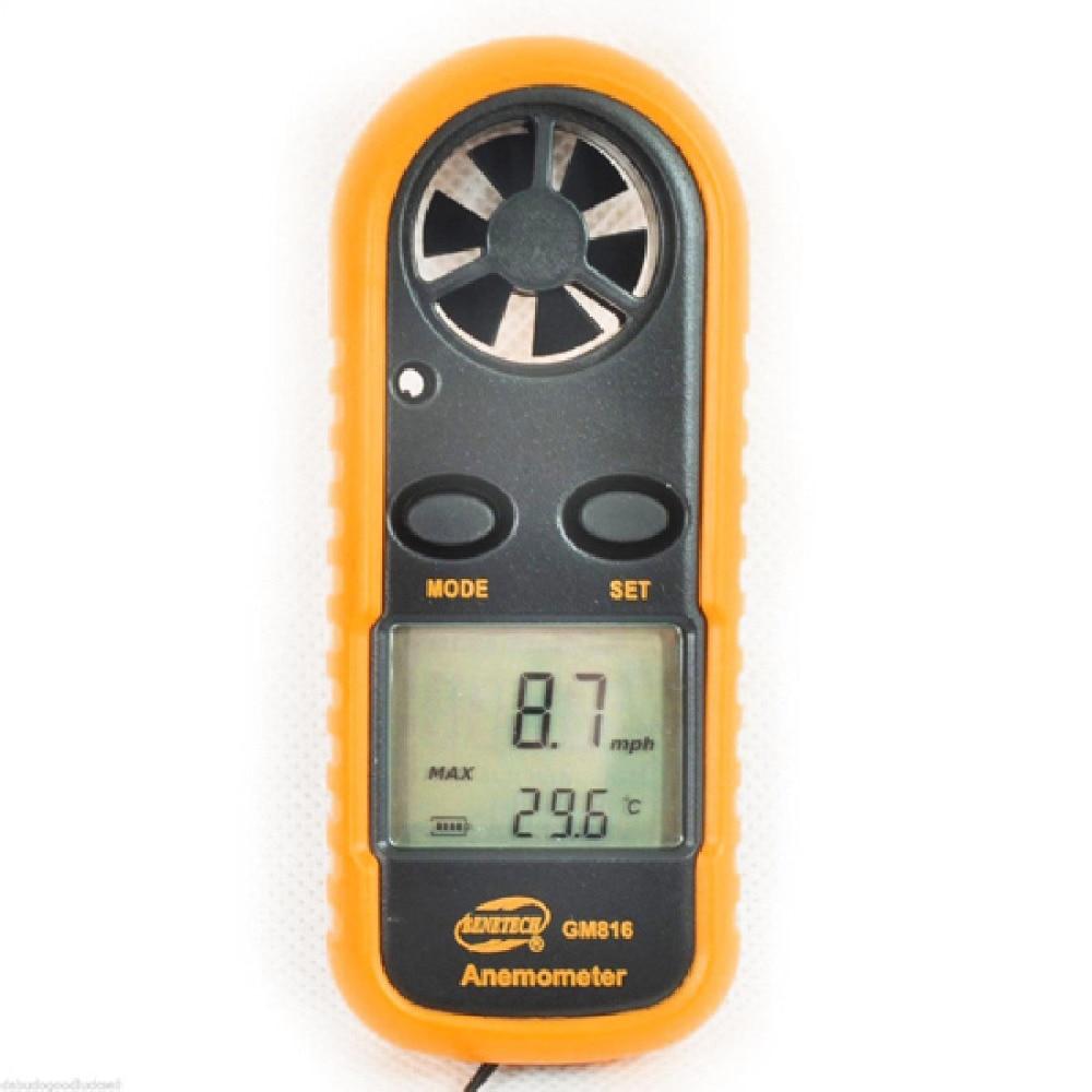 Medidor digital digital de velocidad del viento GM816 30m / s (65MPH) - Instrumentos de medición - foto 6