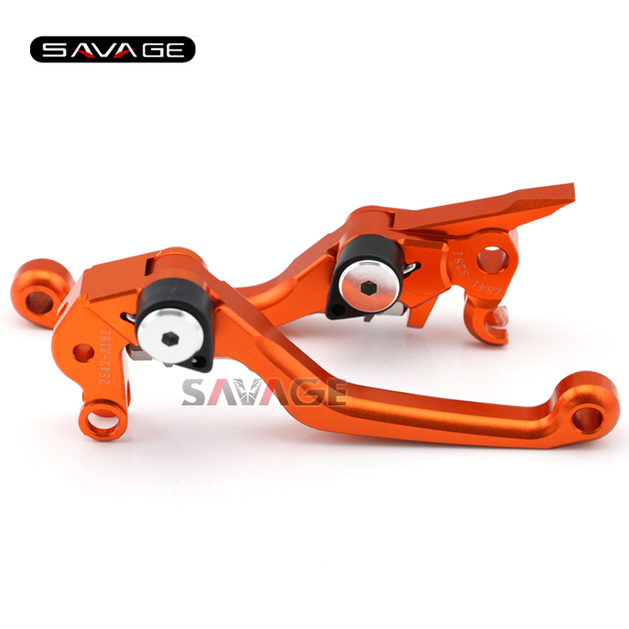 For KTM 125 144 200 250 300 400 EXC XC SX SX-F XC-W EXC-F XCF-W EXC-R Motorcycle Dirt Bike Off-road CNC Pivot Brake Clutch Lever orange cnc billet factory oil filter cover for ktm sx exc xc f xcf w 250 400 450 520 525 540 950 990