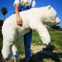 National Geographic 110 см Новорожденный ребенок Подушка Polar Bear плюша Животные Kawaii Плюшевые детские мягкие игрушки детские игрушки для детская