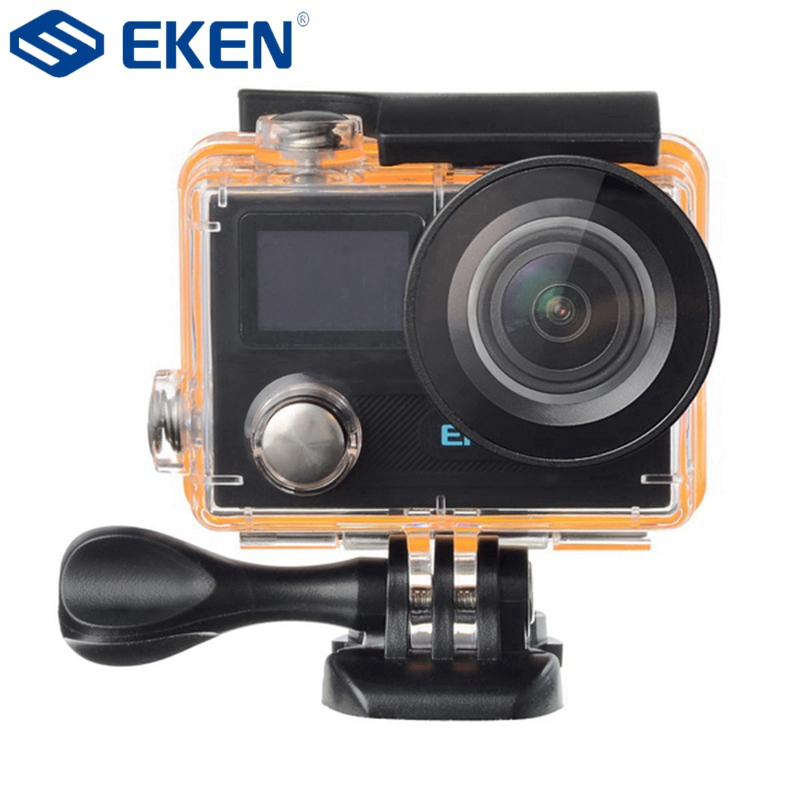 EKEN H8 PRO Action Camera Am barella A12S75 Sport DV 4K Ultra HD Dual Screen WiFi 2.4G Controller 2017 arrival original eken action camera h9 h9r 4k sport camera with remote hd wifi 1080p 30fps go waterproof pro actoin cam