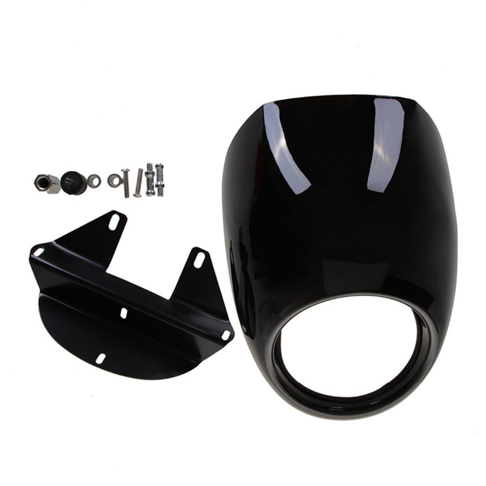 все цены на  Black Headlight Front Visor Fairing Cool Mask Bezel For Harley Sportster 1200 Custom low nightster 833 custom low XR 1200  онлайн