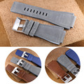 AOTU Genuine Calf Leather Waterproof Man Watch Strap Silicone Strap Watchbands for Bell Ross BR01 BR03 34*24mm + Free TOOLS