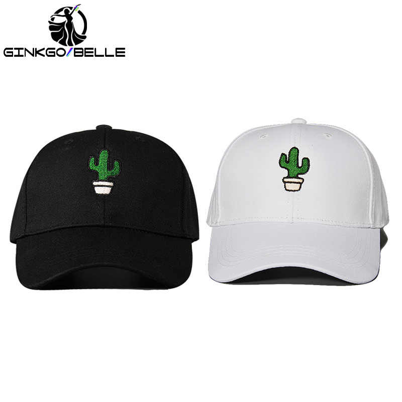 2515aadffa2 2pcs set CACTUS Baseball Hat Embroidered Dad Cap Succulent Cacti Desert  PlantBest Friends Good Friendship