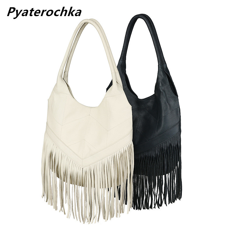 Ladies Handbags Genuine Leather Big Bag Fashion Tassel Shoulder Bag Handbag Women High Quality Luxury Designer Brand Women Bags safebet 2018 fashion shoulder bag high quality designer luxury women 100% genuine leather genuine leather waterproof handbag