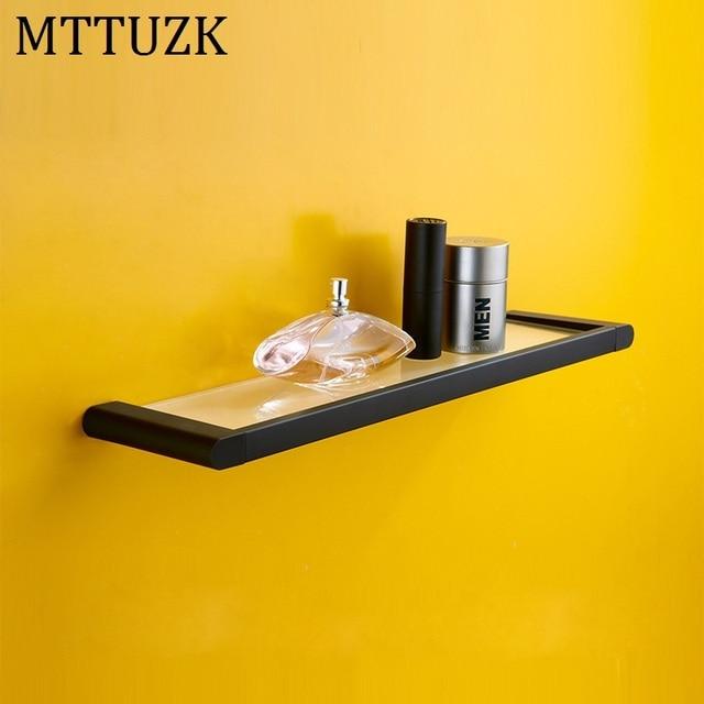 MTTUZK DIY Badezimmer regale edelstahl alloy matte black rubber ...