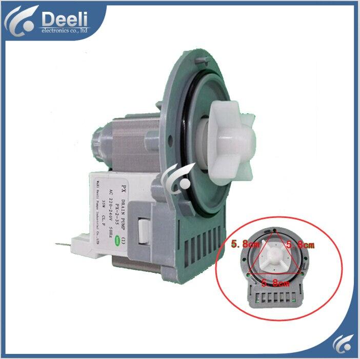 Washing machine parts drain pump 220V DC31-0030H PX-2-35 B20-6 drain pump motor good working 220v 110v washing machine parts drain pump valve psb 1 17l min 35w