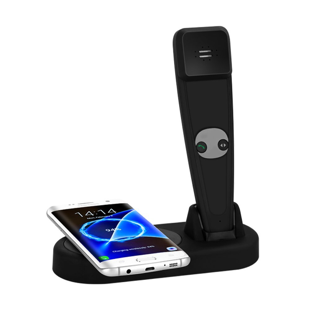 QI Wireless Charger 2IN1 Smart Device with Bluetooth call and Wireless Charging for Iphone 8 / X, Samsung Note 8 / S8 S9 S7 Edge
