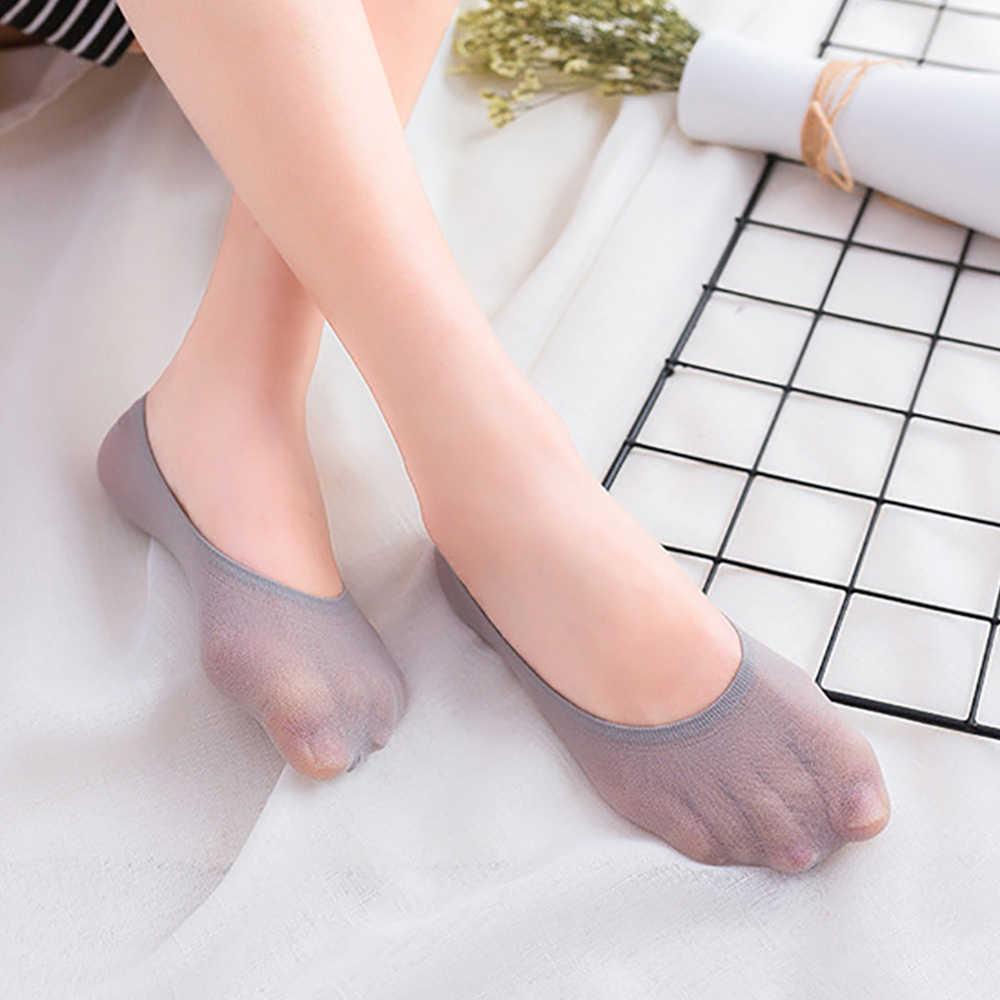YMING 10 pièces de 5 paires de chaussettes invisibles femme mignon blanc doublé Coach ballerine chaussettes femme Transparent cheville chaussettes courtes