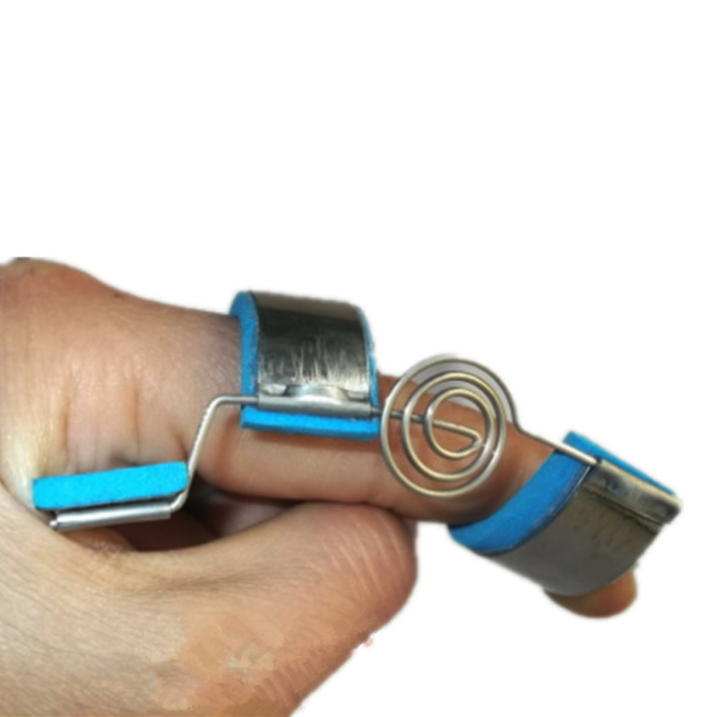 Finger joints training splint Orthosis Finger's contractures spasm hemiplegic stroke knuckle Recovery Rehabilitation exercise orange and blue aluminum 36 sam splint fixed first aid bandage roll pet splint first aid training splint