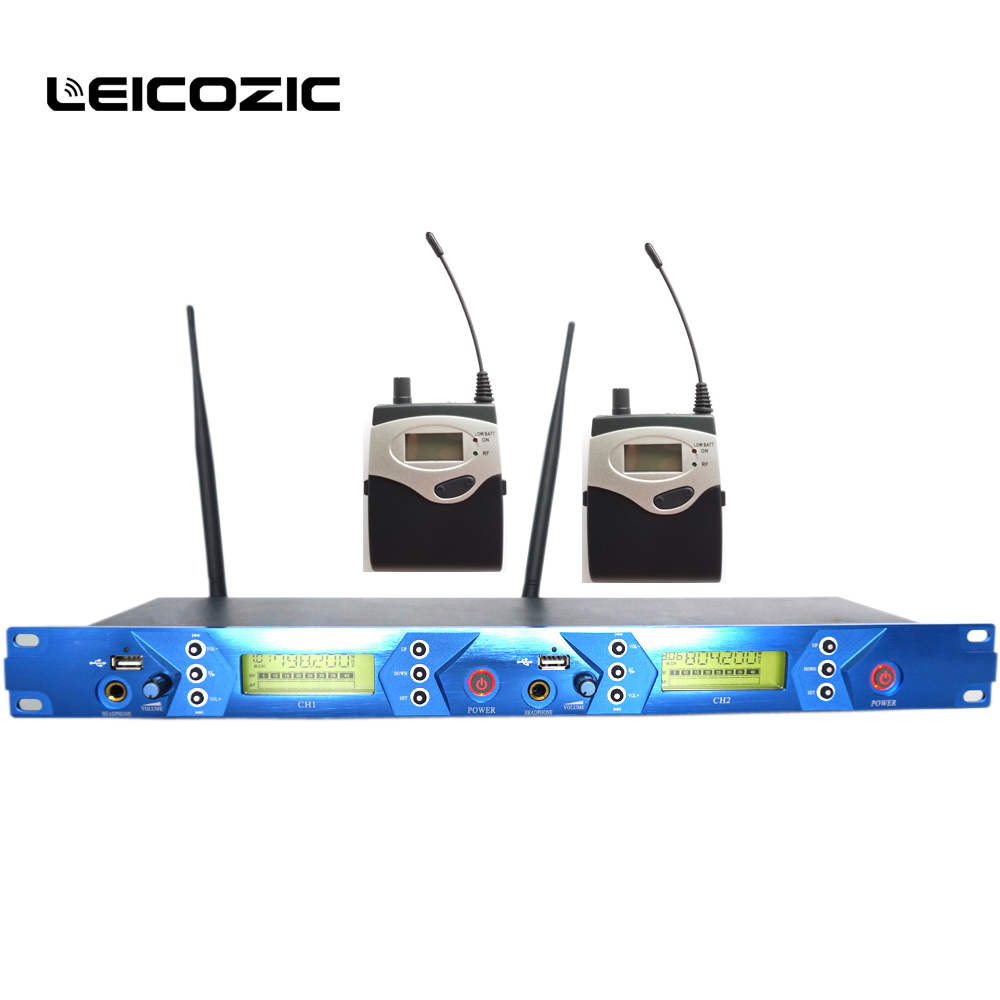 leicozic in ear monitoring system bk5102 wireless in ear personal monitor system 2 channel 2. Black Bedroom Furniture Sets. Home Design Ideas