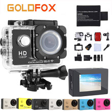 "Goldfox 2 ""Экран 1080 P Спорт действий Камера HD WIFI Спорт DV велосипед шлем CAM 12MP 30 м Go водонепроницаемый Pro Видео Камера"
