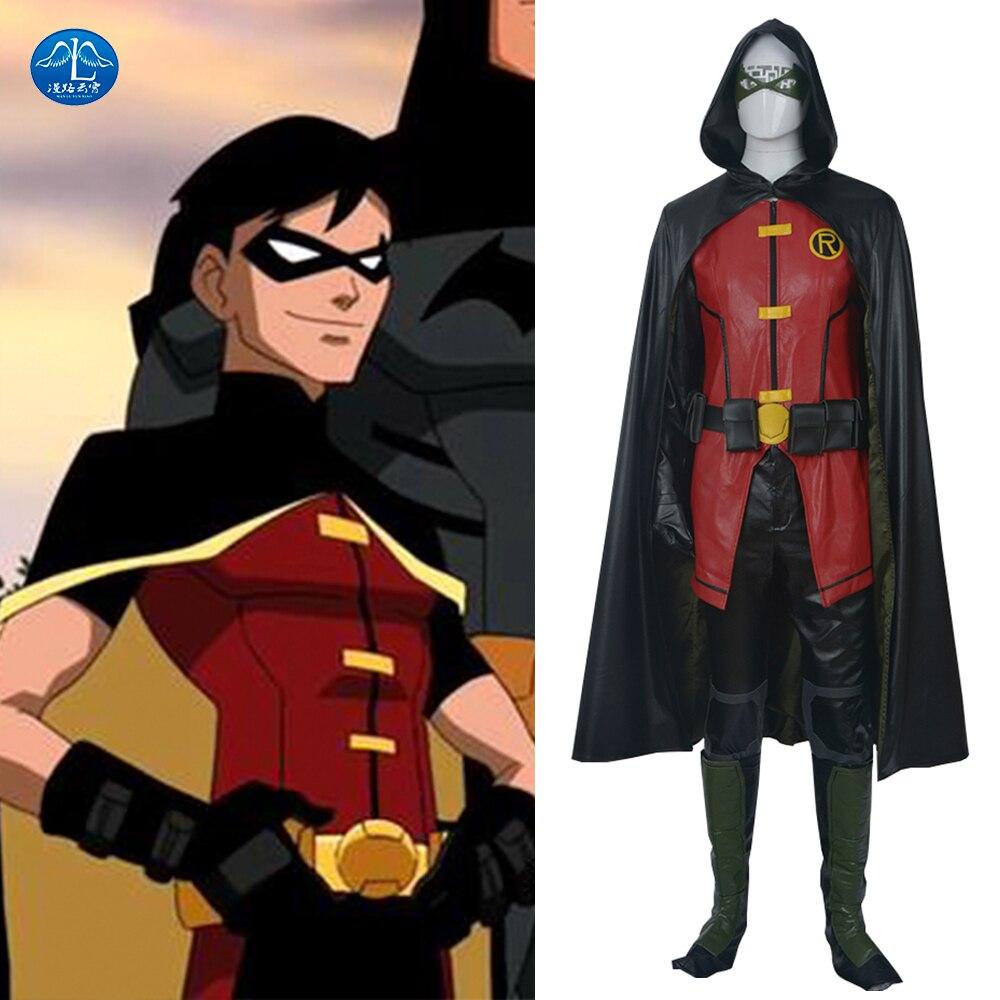 MANLUYUNXIAO Traje de Robin de la Liga de la Justicia de Alta Calidad - Disfraces