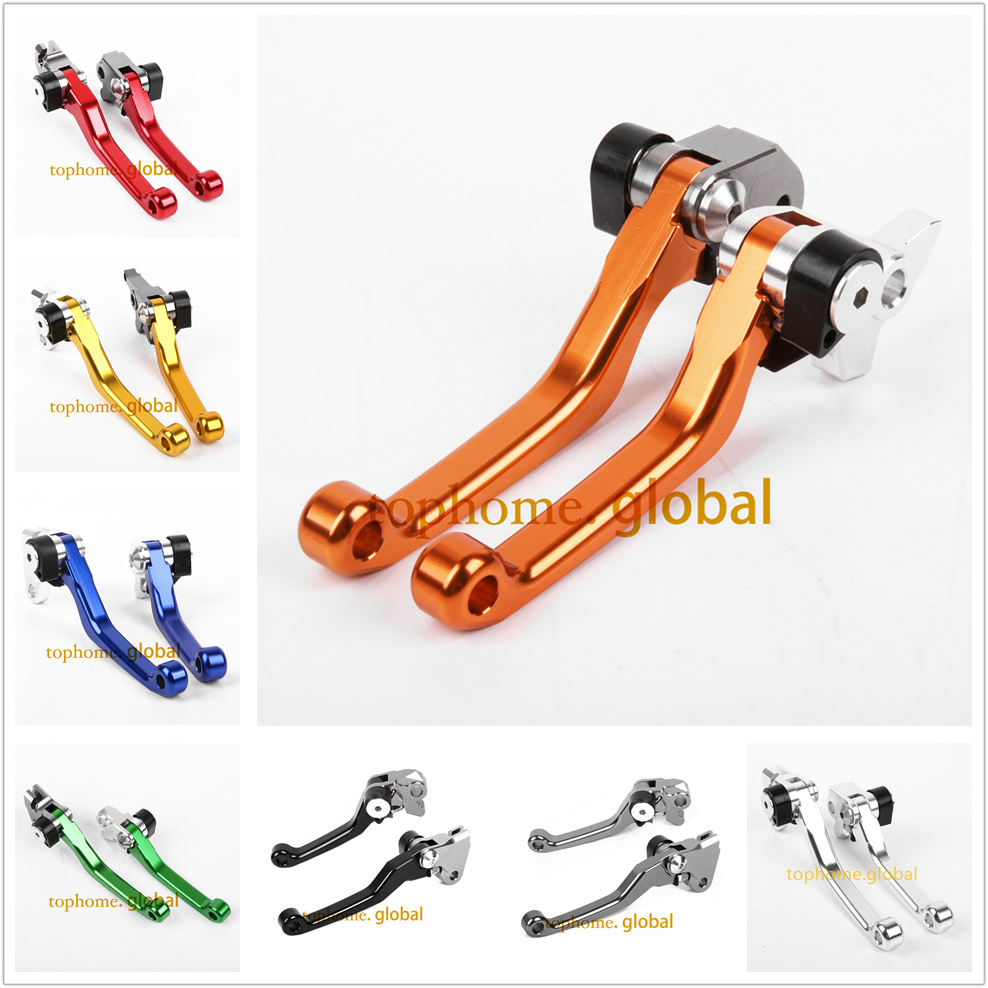 For KTM 450 SX-F / XC-W / XC-F / EXC-F / EXC-R / EXC (SIX DAYS) 2014 - 2017 CNC Pivot Brake Clutch Levers 2015 2016 billet cnc rear brake disc guard w caliper bracket for ktm 125 450 sx sx f smr xc xc f 2013 2014 2015 2016