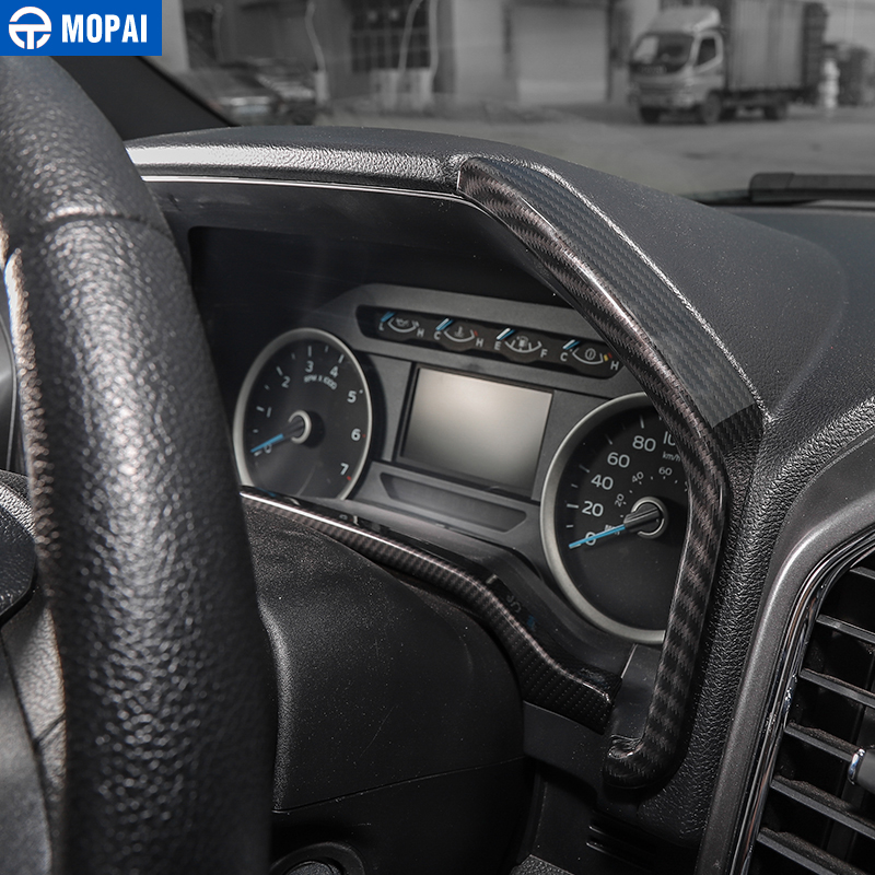 Interior Dashboard Instrument Box Cover Trim Strip Fit 15 Ford F150 Wood Grain