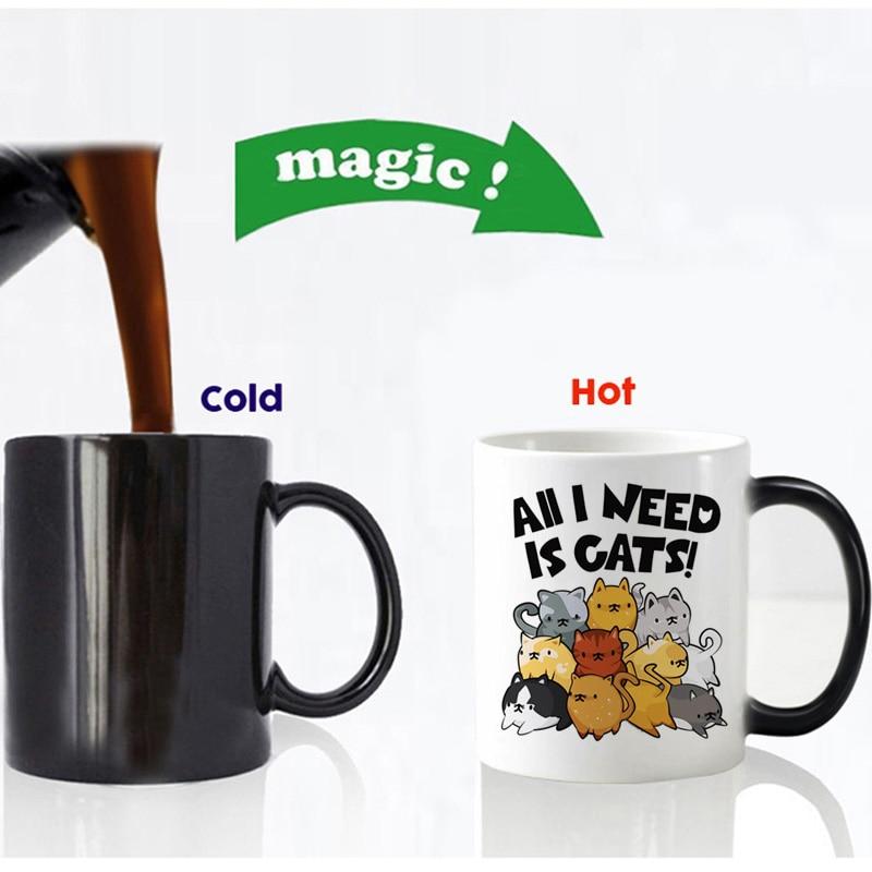 all i need is cats magic mug
