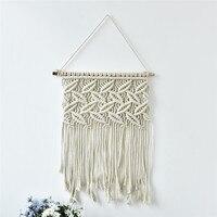 Unique Handmade Macrame Wall Hanging Home Decor Retro Handwoven Cotton Thread Craft Handcrafted Home Decoration High