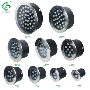 Image 1 - Floor Lamp LED Stair Lights 3W 5W 7W 9W 12W 15W 18W 24W 36W 85 265V 12V Recessed Deck Inground Garden Outdoor Lighting 10pcs/lot