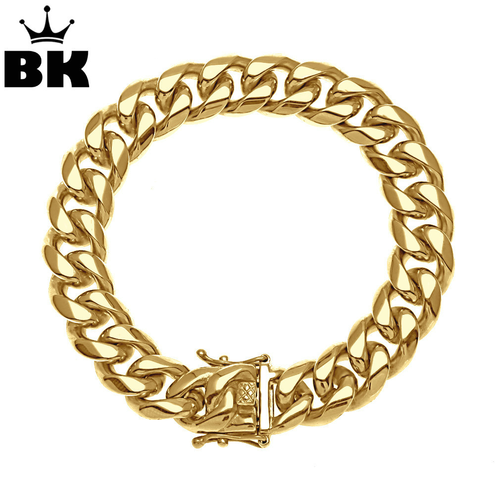 8mm/10mm/12mm/14mm Stainless Steel Miami Curb Cuban Bracelet Mens Hip Hop Thick Gold Filled Cuban Link Heavy Bracelet 23cm 8mm 10mm 12mm 14mm stainless steel miami curb cuban bracelet mens hip hop thick gold filled cuban link heavy bracelet 23cm