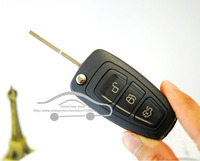REPLACEMENT SMART REMOTE KEY SHELL 3 BUTTONS CASE FOR 2011 FORD MONDEO CHIA X WITH KEY