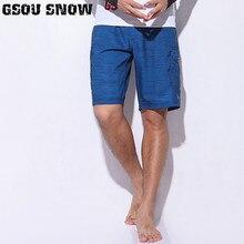 GSOU Снежный бренд Мужские Пляжные обшитые мужские шорты быстросохнущие купальники Soild летние бермуды плавание, серфинг, дайвинг шорты для моторных лодок