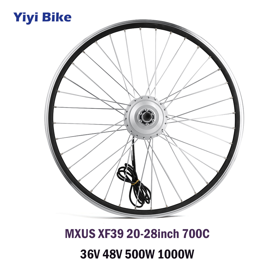 XMUS bicicleta electrica DC Motor 36V 48V Brushless Hub Motor Electric Vehicle 500W 1000W Electric Bike Front Wheel Motor Kit