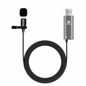 Image 2 - MAONO Lavalier מיקרופון מתכת קליפ על USB מיקרופון Omnidirectional הקבל Micophone חולצה צווארון מיקרופון Youtube מיקרופון
