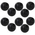 10pcs M6 x 20mm Ball Knob 6mm Thread 20mm Ball Diameter Bakelite Black Ball Lever Knob for Machine Tools