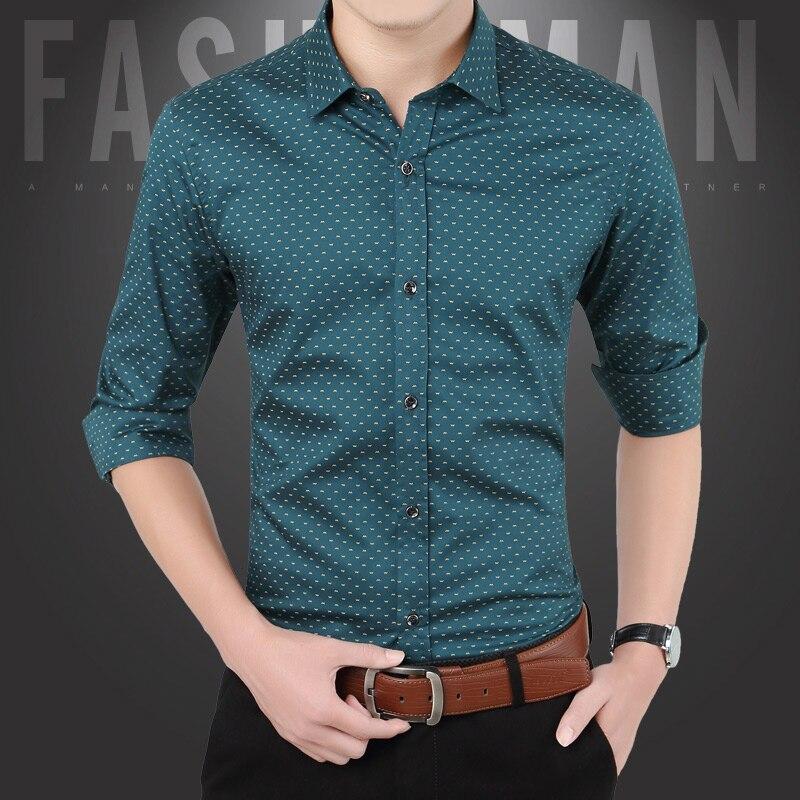 Camisa casual masculina de ajuste fino casual botão para baixo camisa de manga longa formal camisas de vestido masculino roupas masculinas venda quente spr