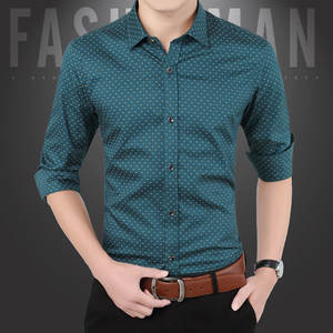 Casual Shirt Male Clothing Formal-Dress Slim-Fit Long-Sleeve Men's Camisa Hot-Sale Spr