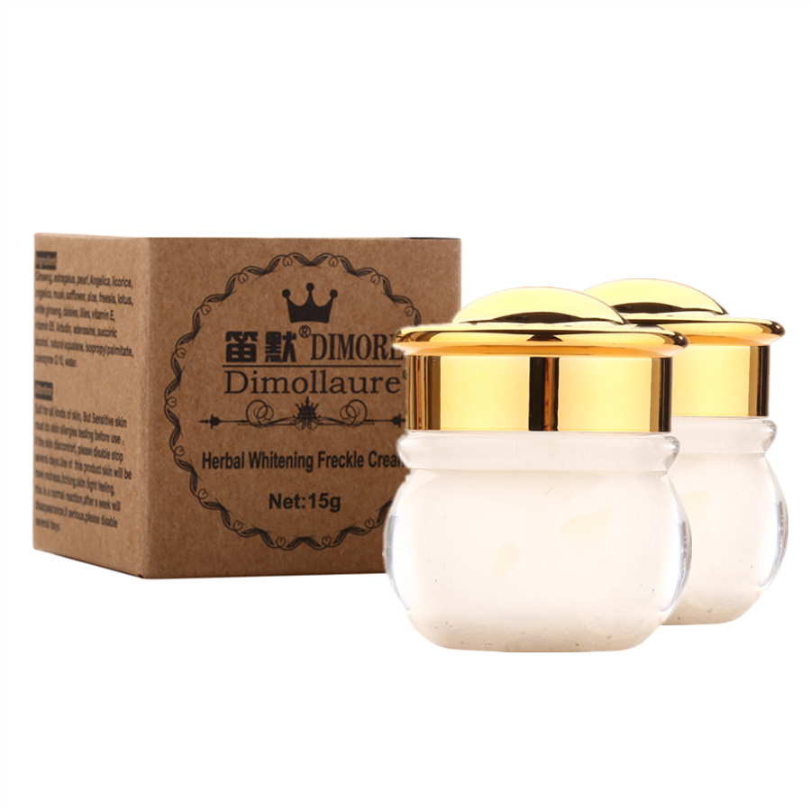 2PCS Dimollaure Strong effects Powerful whitening Freckle cream 15g Remove melasma Acne Spots pigment Melanin face care cream