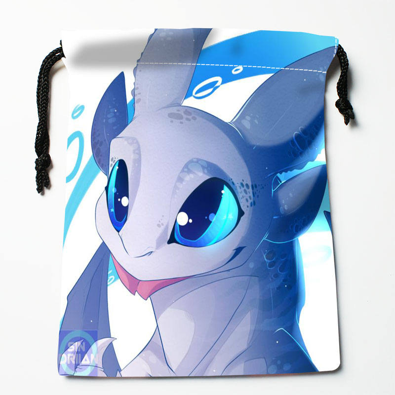 High Quality Custom How To Train Your Dragon Printing Storage Bag Drawstring Bag Gift Satin Bags 27x35cm Compression Type Bags