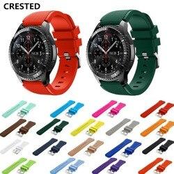 Cinta Para Samsung Galaxy relógio engrenagem S3 Fronteira 46mm 42mm ativo 20mm 22 milímetros watch band huawei watch cinta Amazônia gt gtr 47mm 47