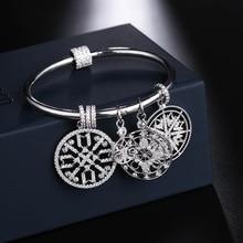 UMGODLY Luxe Merk Life Tree Sneeuwvlok Armband Zirkoon Stones Lucky Charmes Geloof Totem Armband Vrouwen Mode sieraden Gift