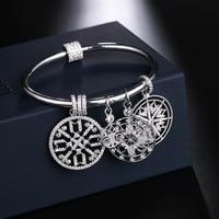 UMGODLY Luxury Brand Life Tree Snowflake Bangle Zircon Stones Lucky Charms Faith Totem Bracelet Women Fashion Jewelry Gift