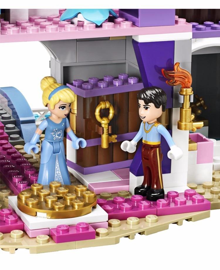 Byggnadsblock Cinderella Romantiska Slott Prinsessan Vänstegrupper - Byggklossar och byggleksaker - Foto 2