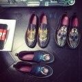 Новое Лето мужская Повседневная Обувь Мужская Мокасины Дышащий Печатных Парусиновые Туфли 2016 Мода Черный Плоские Туфли Zapatillas Hombre