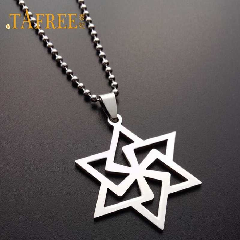 TAFREE Luxury Men Jewelry Pendant Necklaces Pendants bead Chain Necklace Fashion Punk Women Gift Jewelry SQ099