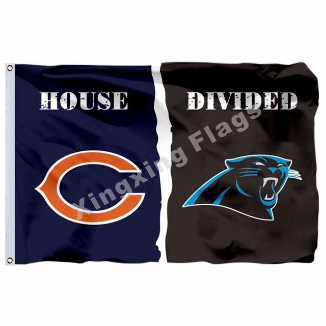 b591ac4e Chicago Bears Carolina Panthers House Divided Flag 3ft X 5ft Polyester NFL  Banner Size No.4 144*96cm Custom Flag