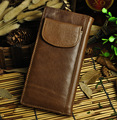 Hot Sale Cattle Men Male Vintage Bifold Genuine leather 15 Card Coin Case Holder Long Large Capacity Checkbook Snap Wallet Purse