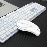 Gaming Wireless Keyboard Mouse Combos 104 Keys Waterproof Rainbow Backlight for PC Laptop Gamer Games Mouses and Keyboards Kit
