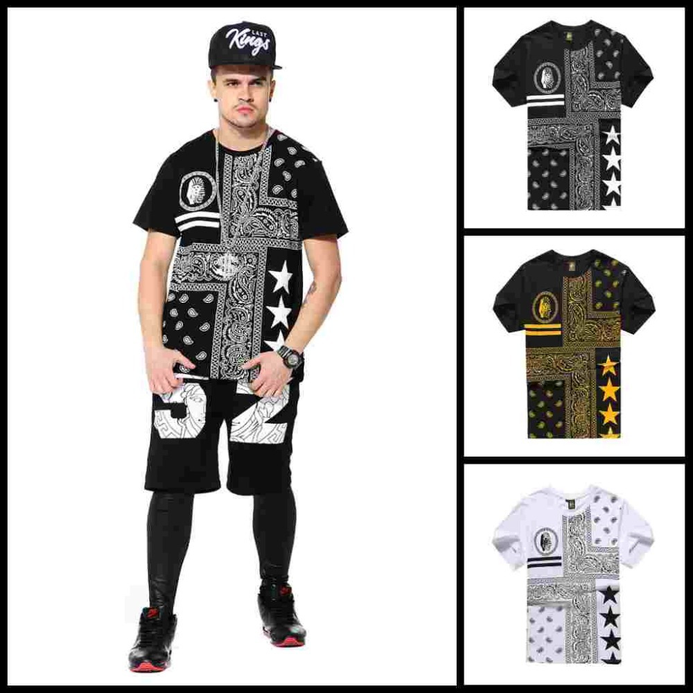 96ef45a142a7f POLERAS LAST KINGS SHIRT HIP HOP NEW DESIGN O NECK COTTON SLEEVE T SHIRT  FOR MEN WHOLESALE PLUS SIZE BLACK WHITE-in T-Shirts from Men s Clothing on  ...