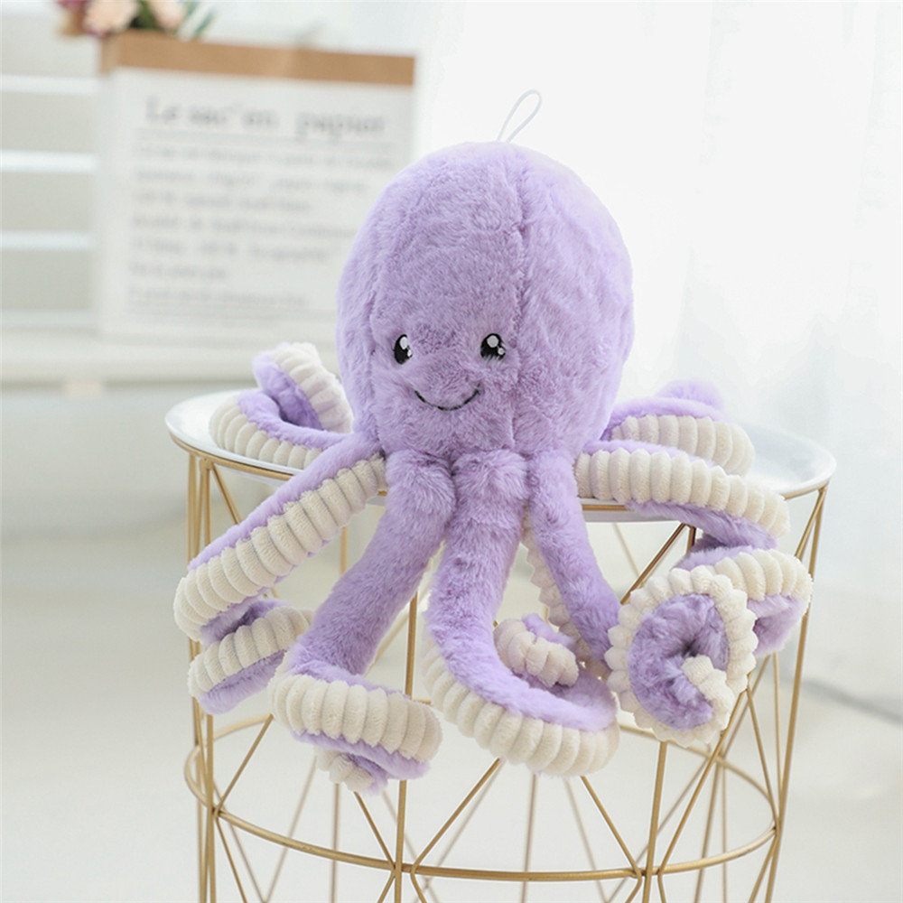 40-80cm Lovely Simulation octopus Pendant Plush Stuffed Toy Soft Deer Animal Home Accessories Cute Animal Doll Children Gifts big octopus animal series many chew toy