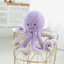 40-80cm Lovely Simulation octopus Pendant Plush Stuffed Toy Soft Deer Animal Home Accessories Cute Animal Doll Children Gifts
