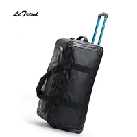 Letrend New Fashion 30 Inch High Capacity Rolling Luggage Set Business Travel Bag Checked Luggage Trolley